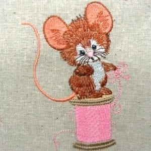 Sewing Mouse Embroidery Sewing Mouse