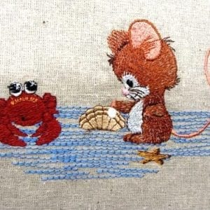 Beachlover Mouse embroidery