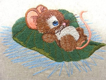Floating Mouse Machine Embroidery