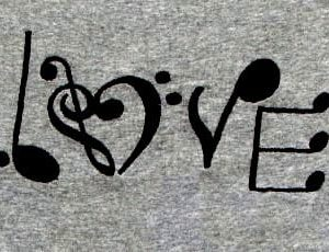 Love music Machine Embroidery