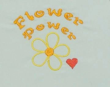 Great Flower Power Embroidery design