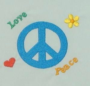 Amazing peace Machine Embroidery