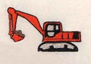 Adult backhoe toy Embroidery design