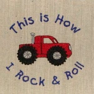 monster truck Machine Embroidery
