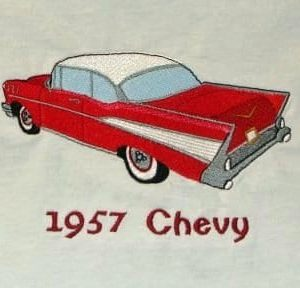 Car-57 Chevy Bel Air Toy Machine Embroidery Toy