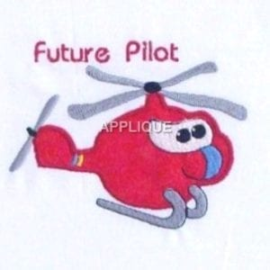 Toy Helicopter Machine Embroidery
