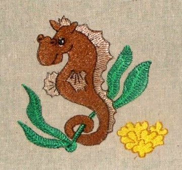 best seahorse embroidery design