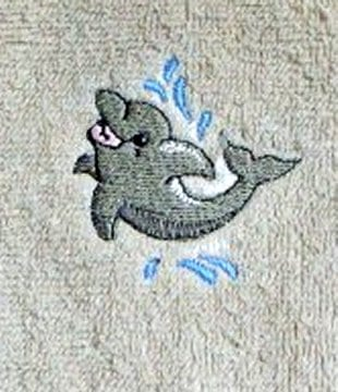 Dolphin leaping out of the water best embroidery design