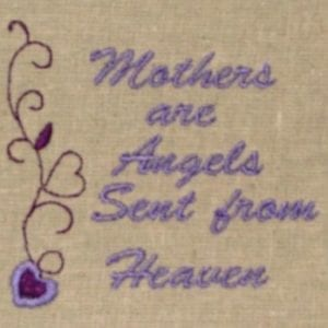 mother day Sayings Embroidery