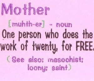 Great mother day saying embroidery