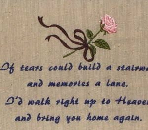 Words and Sayings Machine Embroidery