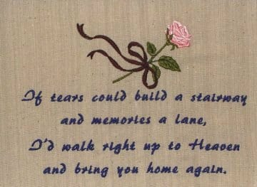 Machine Embroidery Words and Sayings