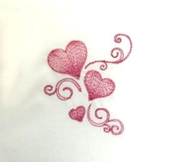 Cute embroidery with heart