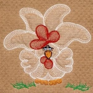 Amazing chicken embroidery design