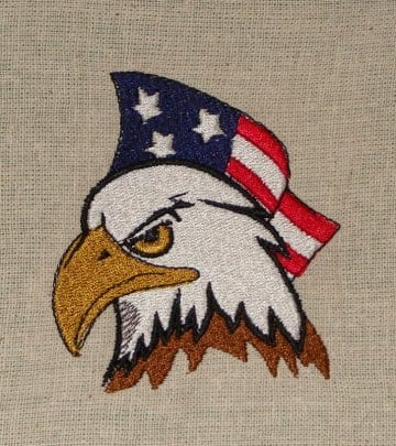 US Flag with eagle embroidery