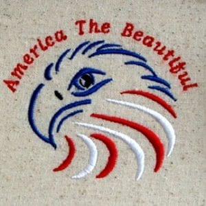 Beautiful America embroidery designs