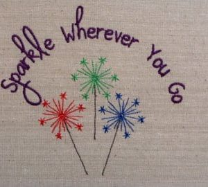 Patriotic Sparkle Embroidery Design