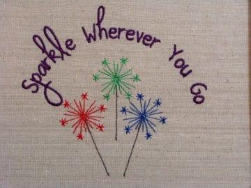 Patriotic Sparkle Machine Embroidery Design