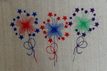 patriotic embroidery design