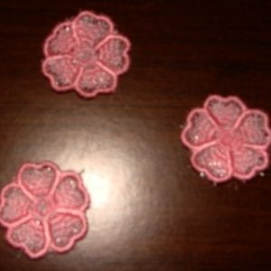pink organdy flowers