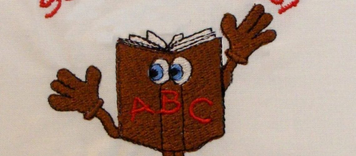 book embroidery design